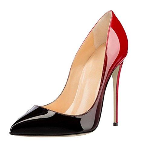 EDEFS Scarpe con Tacco Donna,Classico Scarpe con Tacco e Punta Chiusa Donna Gradient