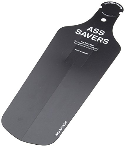 Ass Savers Wide - Guardabarros para bicicletas, color negro, talla 37 cm