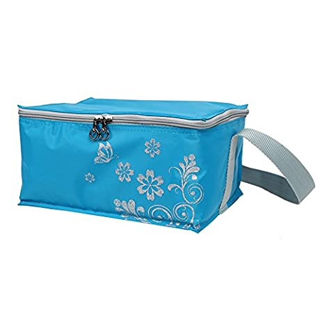 Yodo 12 Can Soft Sided Cooler Lunch Bag - Insulated up to 4 Hours - Idea for Sporting Events, Fishing and Outing, Blue