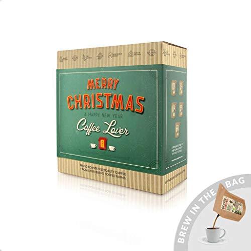 Weihnachts-Geschenk Box, 5 Stk Coffeebrewer mit Spezialitäten-Kaffee, ideale Überraschung für Kaffee-Liebhaber (Mehrweg)