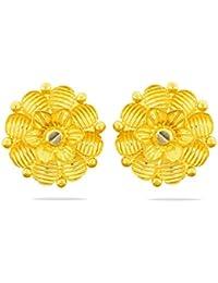 Candere By Kalyan Jewellers 22KT Yellow Gold Stud Earrings for Women