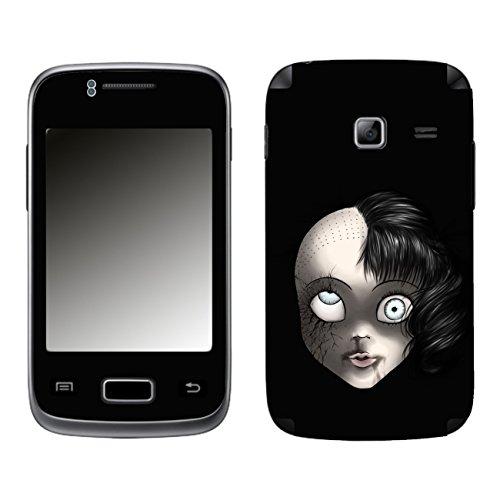 Disagu SF-104077_1215 Design Schutzfolie für Samsung S6102 Galaxy Y Duos - Motiv Gruselpuppe
