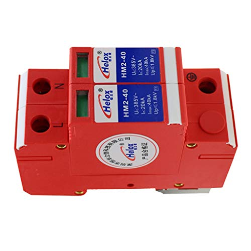 IPOTCH 2P 220V 20Ka-40Ka SPD ÜS Ableiter Überspannungsableiter Ableitergerät für Stromversorgung