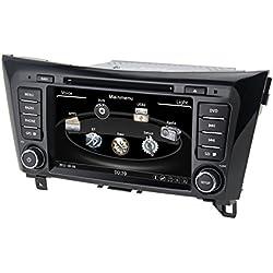 QSICISL 8 Pouces Wince pour Nissan Qashqai 2014 en Dash HD Touch Screen Voiture DVD multimédia Lecteur vidéo GPS de Navigation stéréo Support Bluetooth/SD/USB/iPod/FM/AM Radio/DVR/3 g/AV-in/1080p