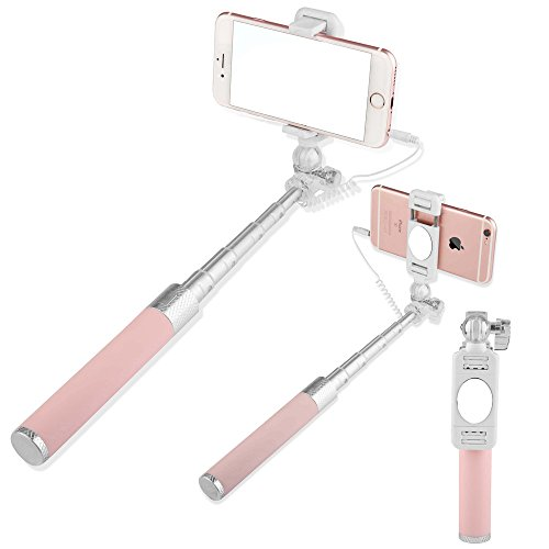 Tikitaka allungabile Handheld Wireless Bluetooth monopiede Selfie Stick per iPhone 4/4S/5/5S/6/6 Plus IOS Samsung Android Smart (Wireless Handheld Dispositivo)