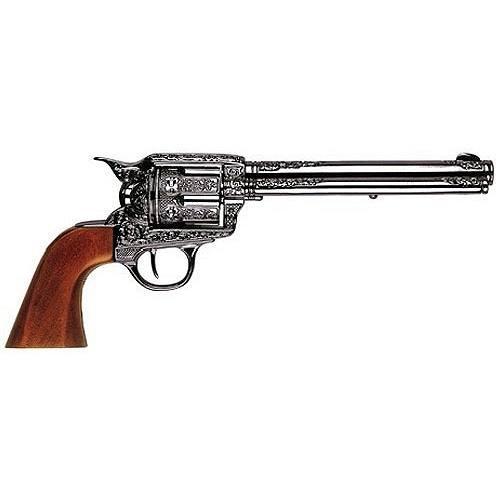 Replicart Deko Kavallerie Colt,Single Action verziert dunkel glänzend -