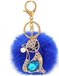 POMPOM Ball Handtasche Anhänger Kette Ring Schlüsselanhänger SchlüsselanhänXU