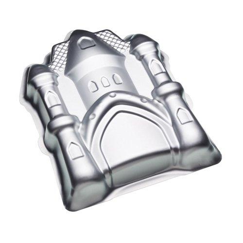 Kitchen Craft Kuchenform Sweetly Does It Burg-Form 23x30x5cm in Silber, Aluminium, 25,4 x 20,3 cm