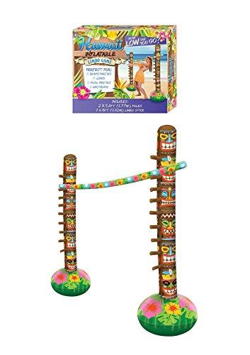 fblasbare Aufblasen Limbo Toy Set 3 St�ck Neuheit Phantasie Hawaiian Beach Party Spiel ()