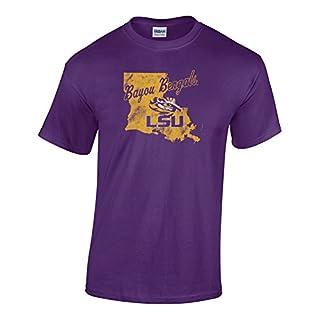 Elite Fan Shop NCAA LSU Tigers Men's Team Vintage T-Shirt, Purple, XX Large