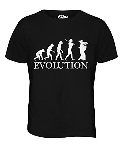 CandyMix Geisha Evolution Des Menschen Herren T Shirt Schwarz