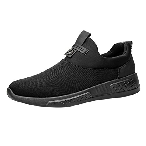 Flachen Sportschuhe Herren,❤️Absolute Männer Mode Leinwand Sneaker 2018 Sommer Neue Freizeitschuhe Spitz Gym Schuhe Canvas Laufschuhe Yoga Skate Turnschuhe (EU:41/CN:42, Schwarz) (Schwarz Neue Balance Herren-schuhe)