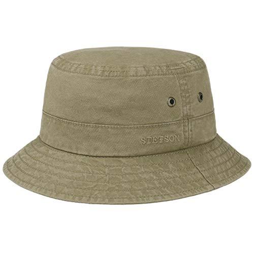 Stetson Hat Company (Stetson Delave Baumwollhut   Anglerhut Herren/Damen   Fischerhut aus Bio-Baumwolle Nachhaltig   Sommerhut UV-Schutz 40 +   Hut Packable   Urlaubshut Frühjahr/Sommer   Freizeithut braun XL (60-61 cm))