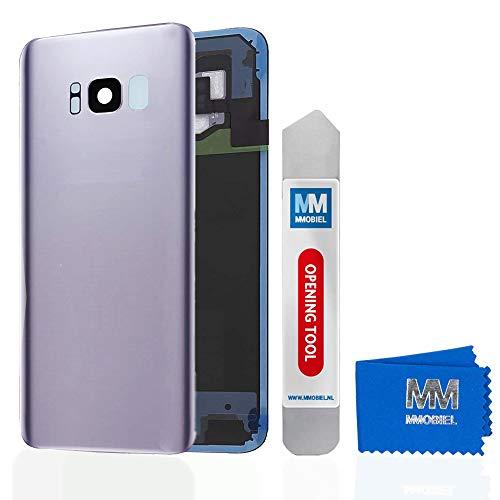 MMOBIEL Backcover Akkudeckel Rück Klappe mit Linse kompatibel mit Samsung Galaxy S8 Plus G955 6.2 Inch (Orchid Gray) - Handys Att Unlocked