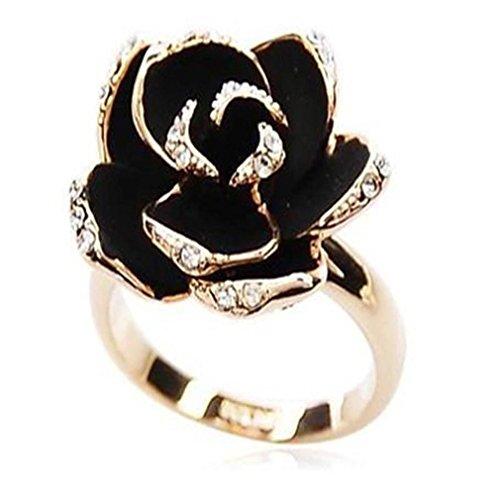 Gyjun anelli a forma di fiore quotidiano gioielli lega da donna anelli statement 1 pezzo , golden
