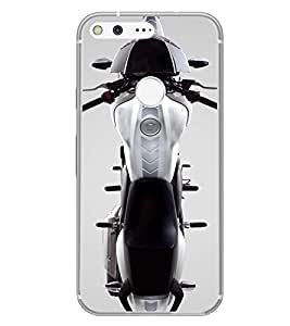 PrintVisa Designer Back Case Cover for Google Pixel XL (Bike Motorcycle Automobile Ariel View )