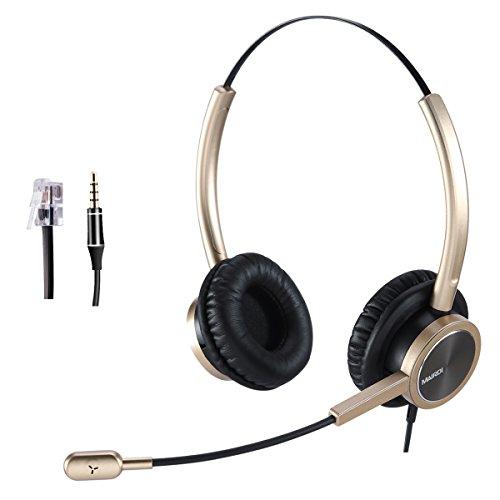 Telefon Headset RJ9Call Center Headset für Büro mit Noise Cancelling Mikrofon Toshiba Telefon with RJ9 jack for Cisco
