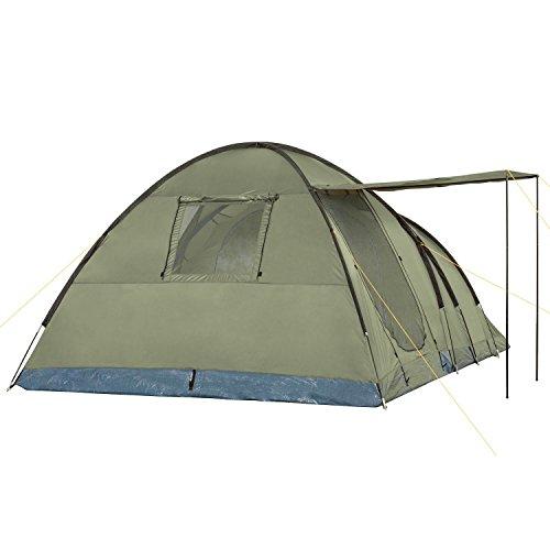 CampFeuer - 5 Personen Kuppelzelt, olivgrün, 3000 mm Wassersäule, Campingzelt