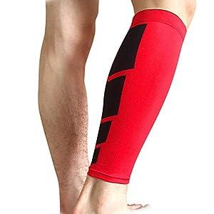 KAIROSF Sports Bein-Socken Unisex – Kalb Compression Bein-Ärmel Unterstützung Calf Guard für den Lauf Radfahren Wandern