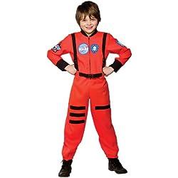 Wicked - Disfraz astronauta misión a Marte SpacePilot para niño, talla M - 122-134cm