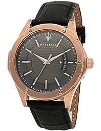 Orologio da uomo, Collezione CIRCUITO, in acciaio, PVD oro rosa, cuoio - R8851127001