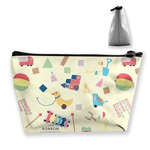 Kosmetiktasche Trapez Aufbewahrungstasche Spielplatz Ball Line Tragbare Kosmetiktasche Damen Mobile Reisetasche - Spielplatz Bälle