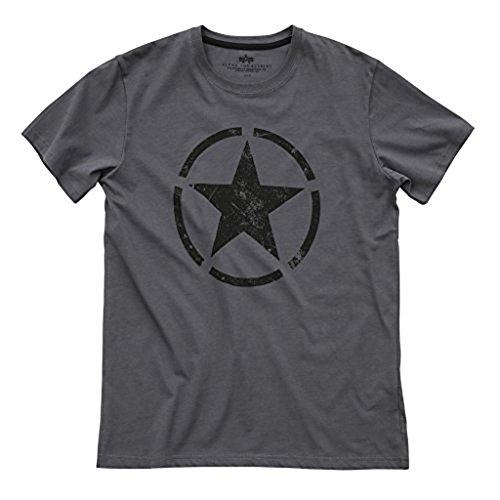 Alpha Industries Star T-Shirt (XL, grey black) -