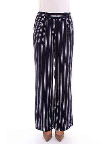MICHAEL Michael Kors Women s Mega Striped Pants True Navy White S Navy