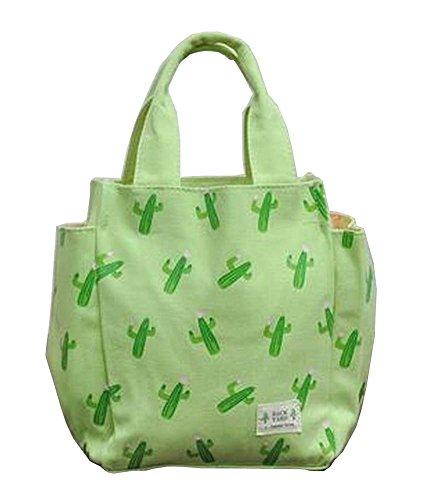 [Kaktus] Canvas Lunch Bag Bento Tasche Einkaufstasche Picknick-Tasche
