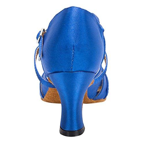 Meijili - Scarpe con plateau donna Blu royal