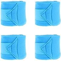 NON Sharplace 4 Piezas de Envoltutra para Piernas de Caballo Accesorio de Proteccion de Piernas Suave - Azul