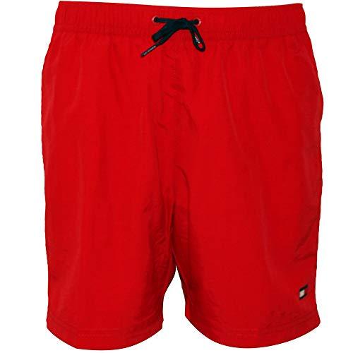 Tommy Hilfiger Clásico Logo Chicos Nadar Shorts, Tango Rojo Edad 8-10