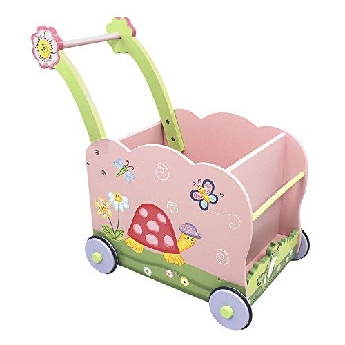 Chariot de marche pousseur trotteur bois bébé enfant ranger jouet poupée W-9840A