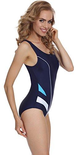 Merry Style Damen Badeanzug MSAQ17 Navy/Blau