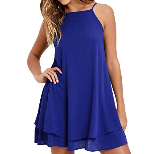 FNKDOR Summer Women Interview Concert Evening Party Elegant Strappy Loose Casual Solid Short Mini Dress Summer Beach Dress Plus