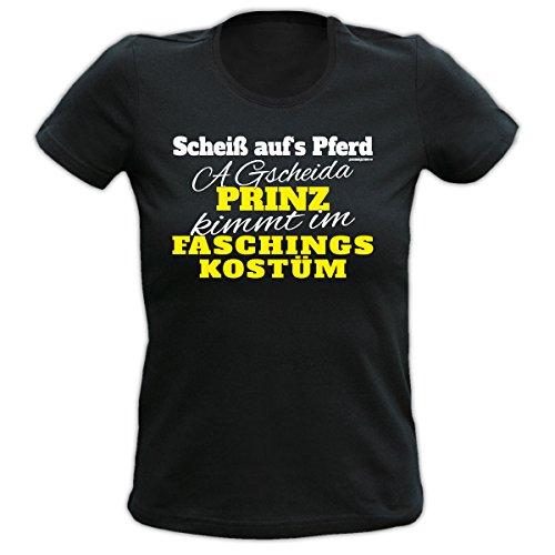 Karneval, Fasching Fasnacht T-Shirt Goodman Design Farbe : schwarz : Scheiß aufs Pferd............................... Schwarz
