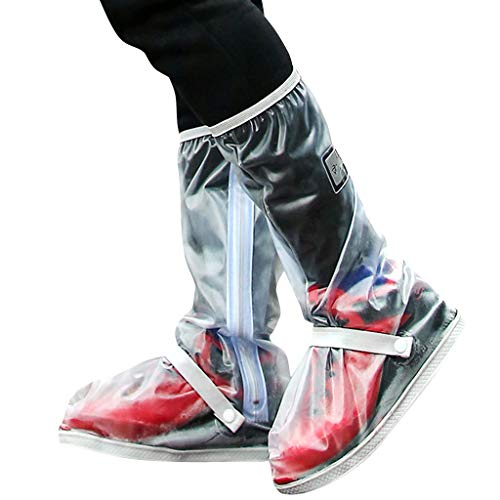 Zilee Regen Schuhüberzieher Überschuhe Wasserdichte - Damen Herren Regen Stiefel Wiederverwendbare Schnee Schuhe Anti-Rutsch Regenkombi Erwachsene