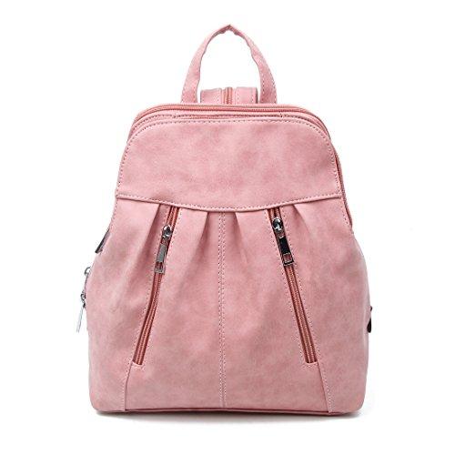 Damen Cityrucksack Rucksack Schultertasche Stadtrucksack Backpack Schultertasche Organizer Tablet Nexus iPad Mini bis ca. 8 Zoll (Pink)