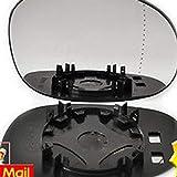 Noradtjcca Driver Destro Lato Destro Vetro grandangolare specchietto retrovisore Esterno per Citroen C3 2002-2010