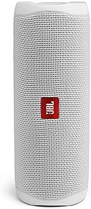JBL Flip 5 draagbare Bluetooth-luidspreker met oplaadbare batterij, waterdicht, compatibel met PartyBoost, wit