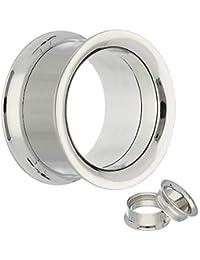 2x Silikon Flesh Tunnel Stopfen Retainer Silicone Ear Plug Ohr Piercing Hider