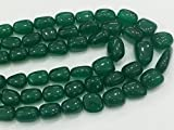 Earth Gems Park Super Fine Quality Gems Jewelry 1 Strand Natural Emerald Beryl Quartz Beads, Emerald Plain Oval Nuggets, Emerald Necklace, 16mm - 17mm, 6 Inch Code:- BF-18779