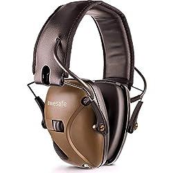 awesafe GF01 Protector auditivo electrónico, reducción de Ruido y amplificación de Sonido Seguridad electrónica, NNR 22 dB. Ideal para la Caza y el Tiro al Blanco