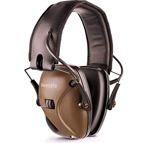 Awesafe electronic shooting earmuff, gf01 riduzione del rumore amplificazione del suono sicurezza elettronica cuffie antirumore, nrr 22 db, ideale per le riprese e la caccia
