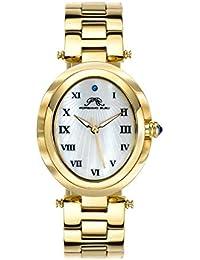 porsamo Bleu sur mar ovalado champán de acero inoxidable reloj de pulsera de mujer 105bsso