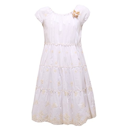 8921R vestito bimba ERMANNO SCERVINO abito bianco/beige dress kid [ 14 YEARS]