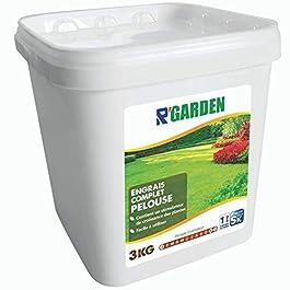 R'Garden | Engrais Complet Pelouse | Nourrit Votre Gazon en Profondeur | Facile d'Utilisation | 3KG