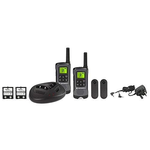 Motorola-TLKR-T60Z-Walkie-Talkie-Radio-with-Charging-Dock-Twin-Pack