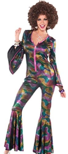 erdbeerloft - Damen Faschingskostüm Disko Jumpsuit im Glitzerdesign , S/M, (Flapper Amazon Kostüm Girl)