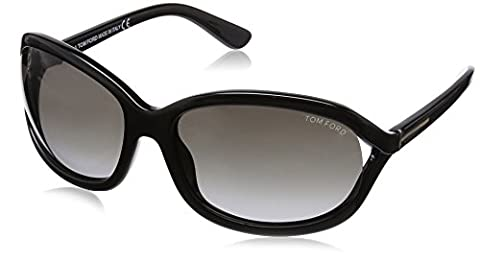 Tom Ford Women's 0278 Vivienne Shiny Black Frame/Gradient Smoke Lens Plastic Sunglasses